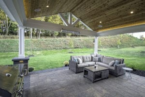 Custom Backyard in Hampton Township designed by Beall's Landscaping