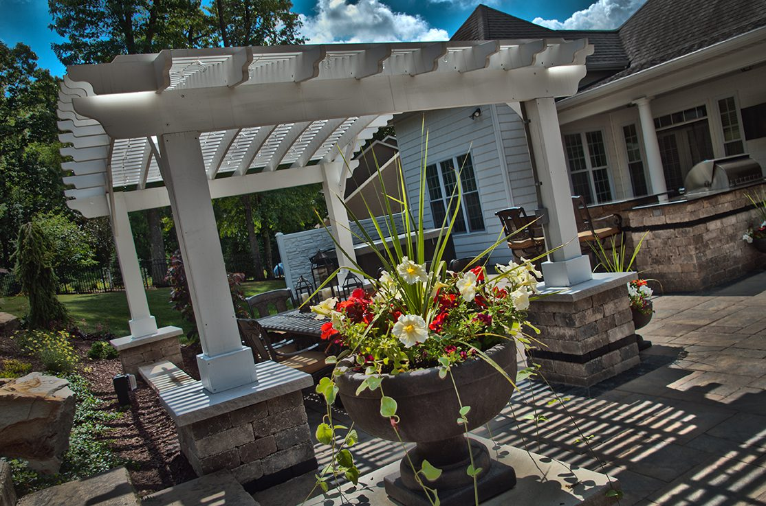 Beautiful Outdoor Living Space designed by Beall's Landscaping