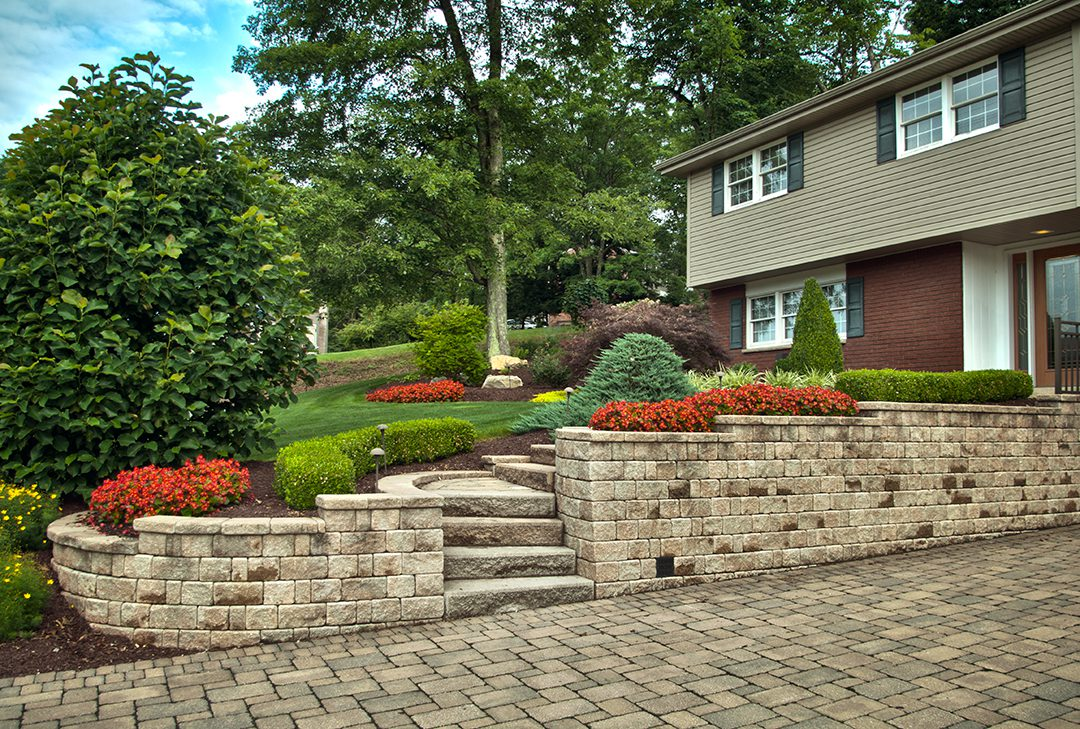 Custom Driveway and Entryway Renovation by Beall's Landscaping
