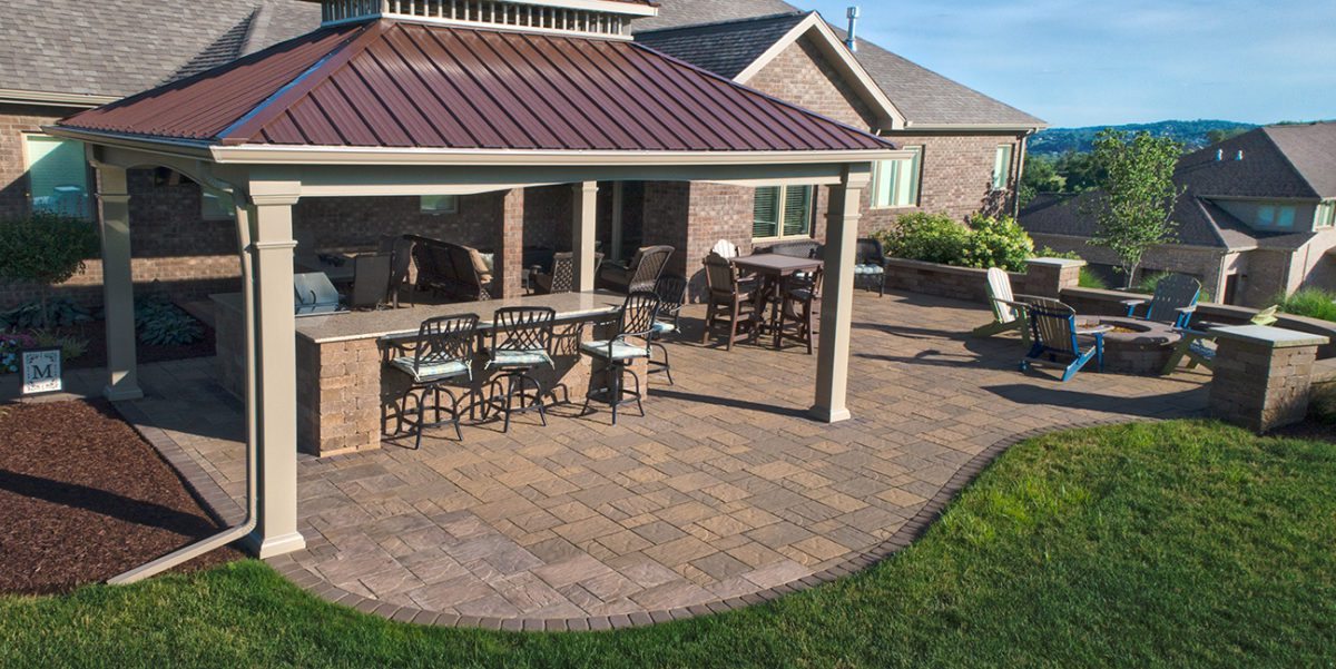 Beautiful Landscape High on a Hill designed by Beall's Landscaping