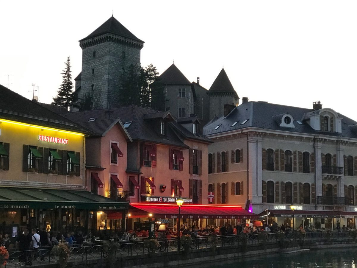 Dusk in Annecy, France