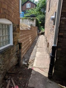 Squirrel Hill, Pittsburgh residential segmental retaining wall installation.