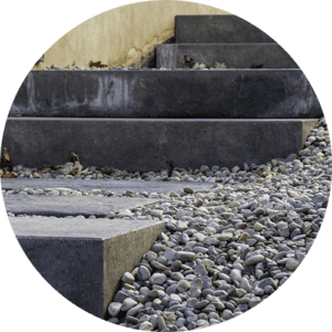 Precast concrete steps installed by RedCat Site Development - Pittsburgh, PA