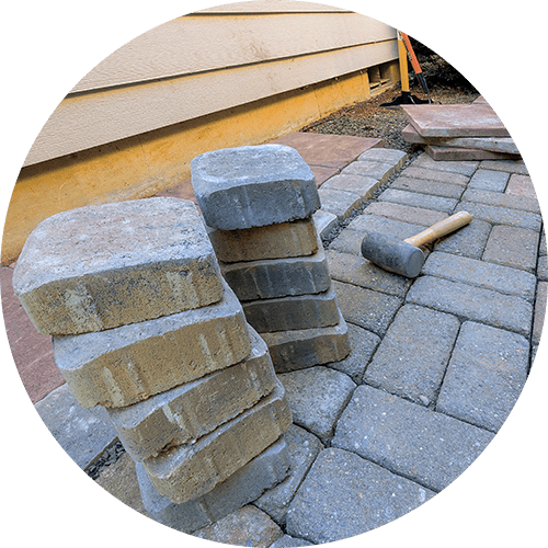 Hardscaping and pavers.