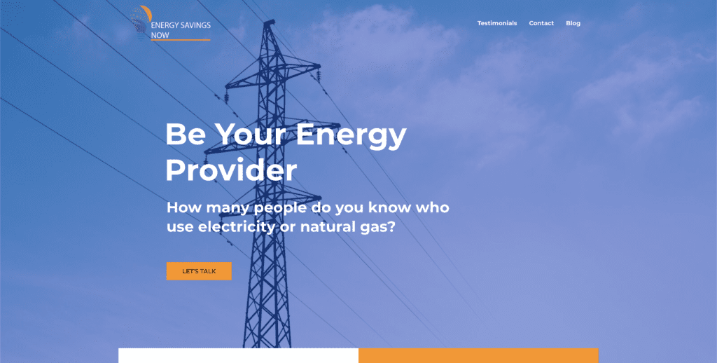 Screenshot of energysavingsnow.us