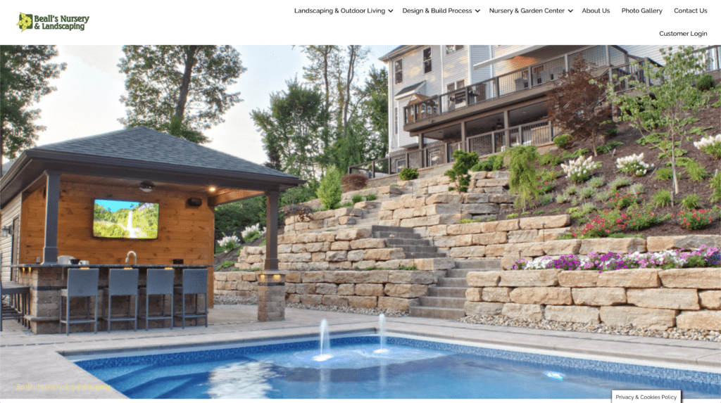 Bealls Landscaping website screenshot